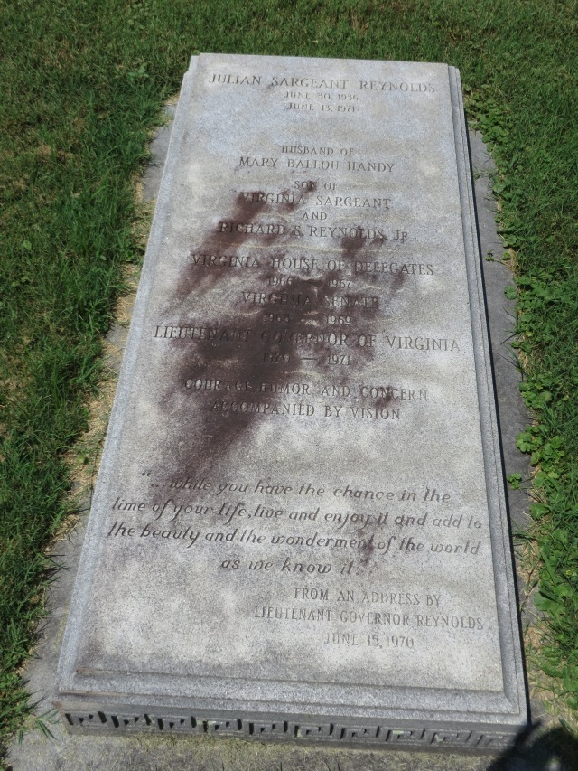 Grave at Reynolds Homestead, Patrick County, Virginia