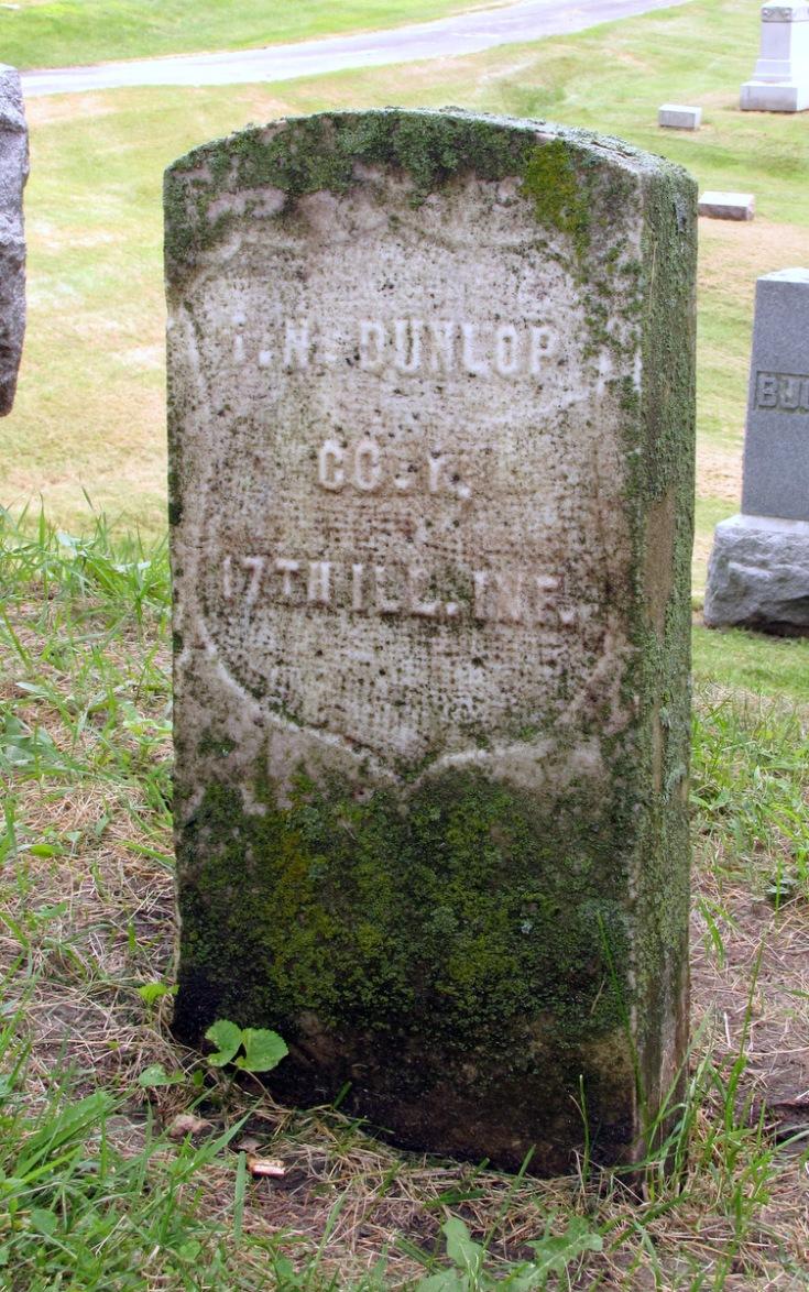 Isaac N. Dunlap - grave marker (1)