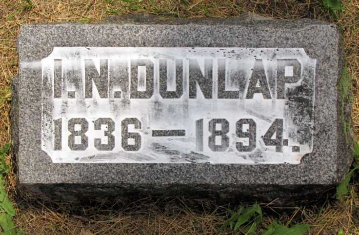 Isaac N. Dunlap - grave marker (2)